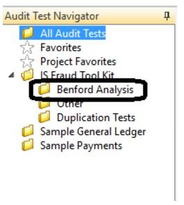 Pruebas de auditoría con la Ley de Benford