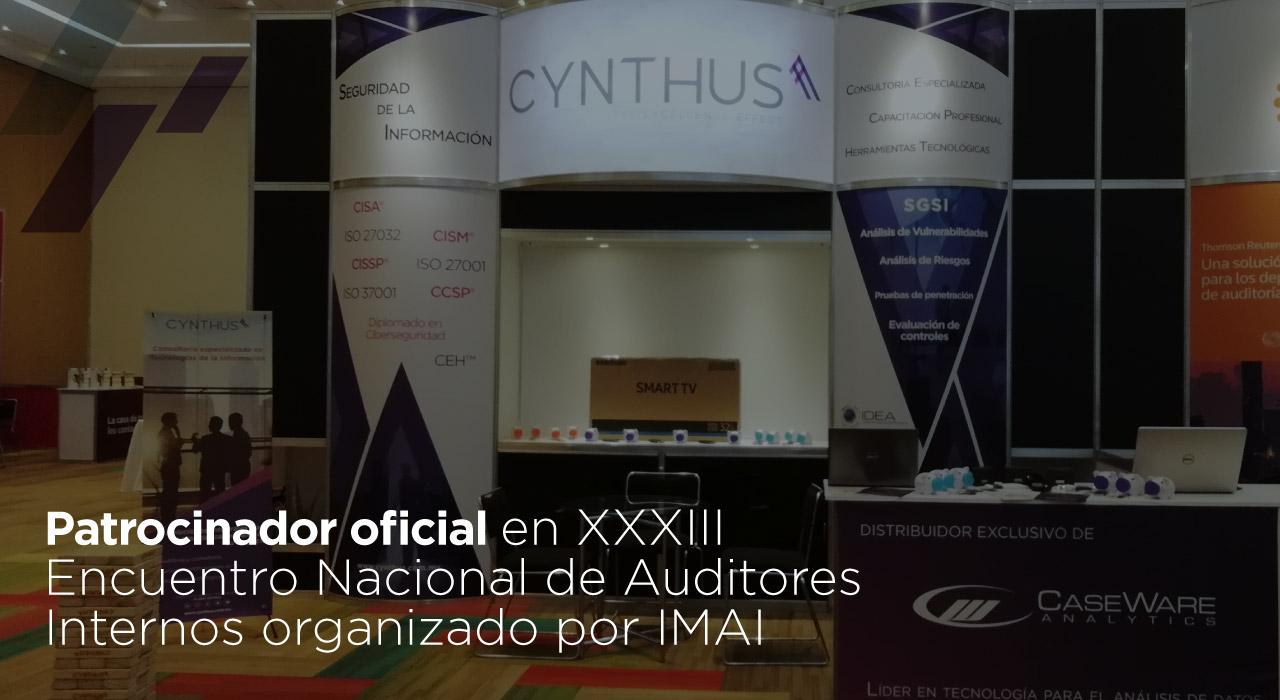 Grupo Cynthus patrocinador oficial en «XXXIII Encuentro Nacional de Auditores Internos» organizado por IMAI