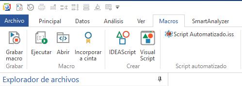 Ilustración 22 Ilustración 20 Script disponible en la barra de tareas de IDEA